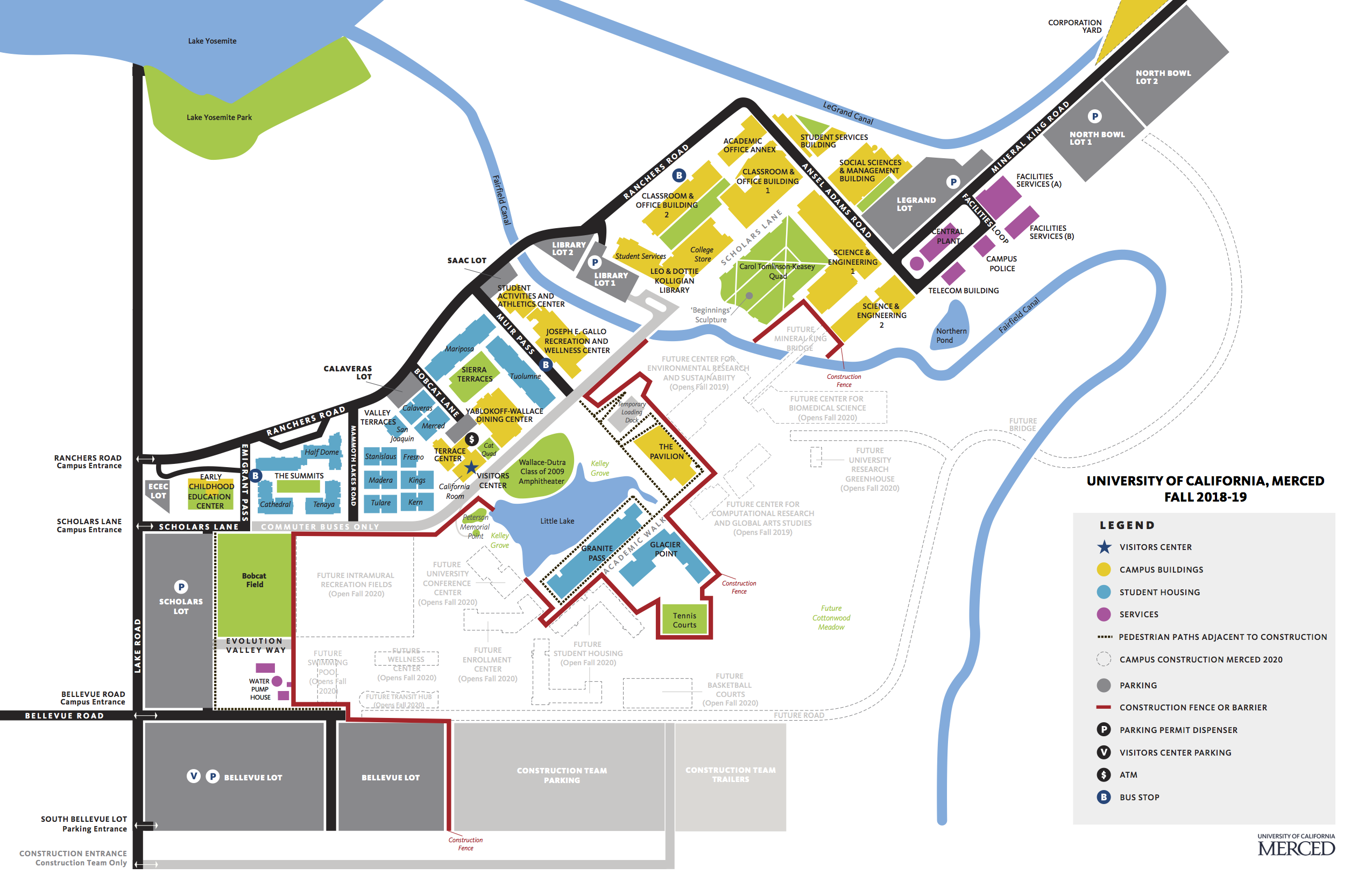merced college campus map Uc Merced Campus Map Directions Center For Cellular And Biomolecular Machines merced college campus map